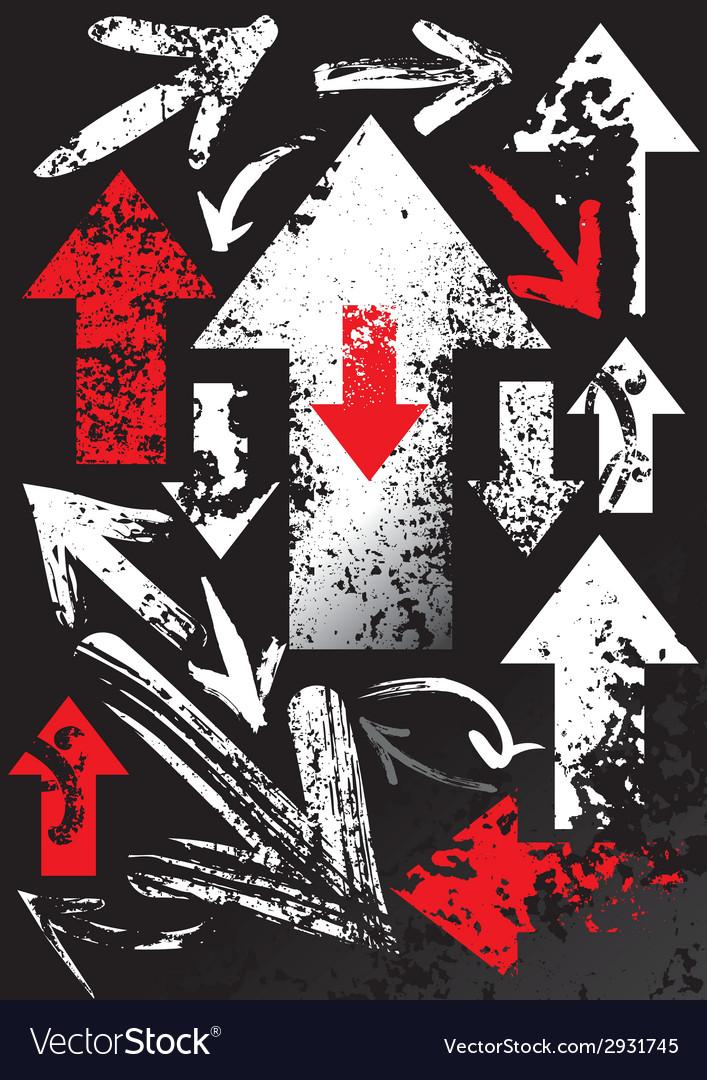 Set of black arrows vector | Price: 1 Credit (USD $1)