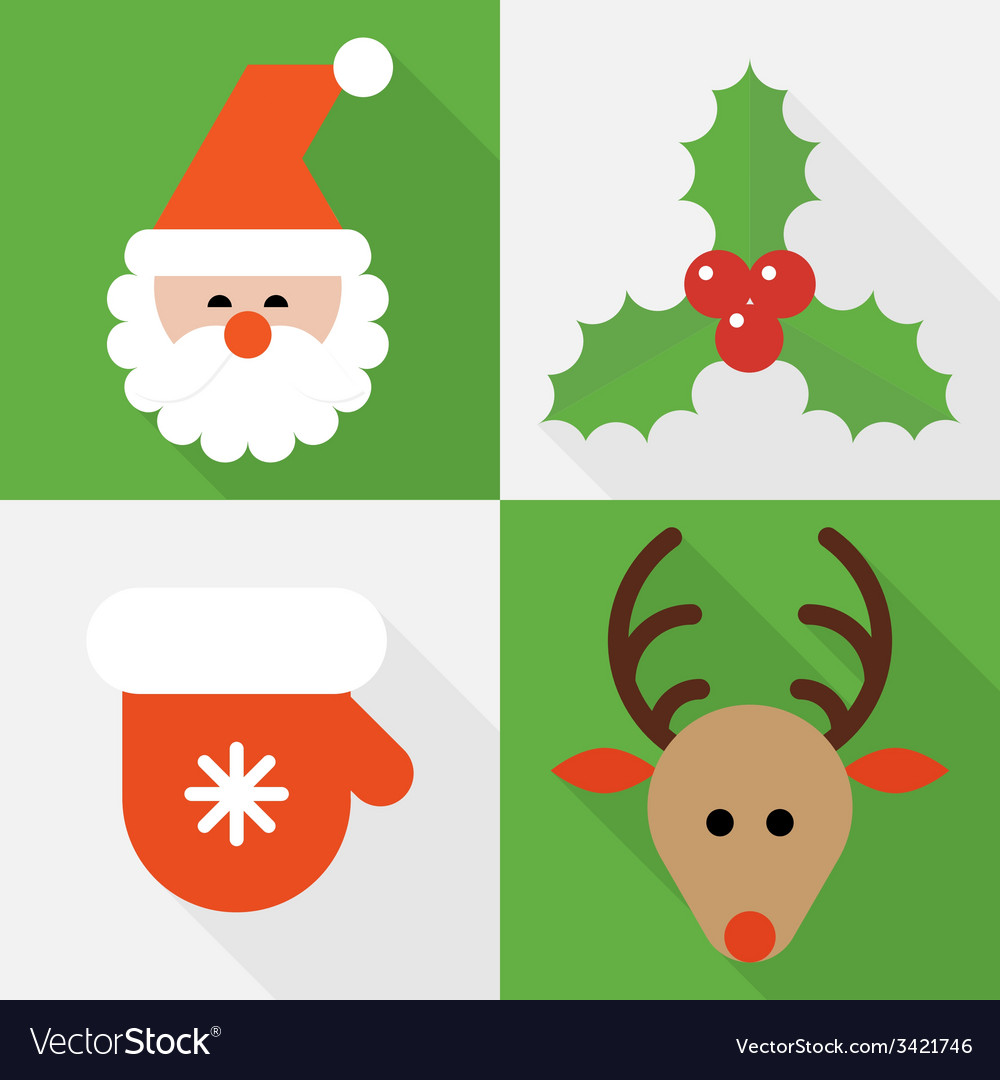 Collection of christmas icons vector | Price: 1 Credit (USD $1)