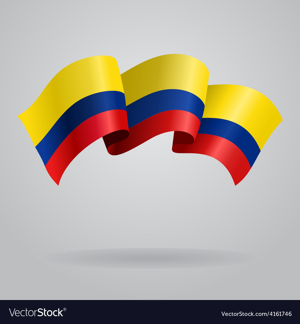 Colombian waving flag vector | Price: 3 Credit (USD $3)