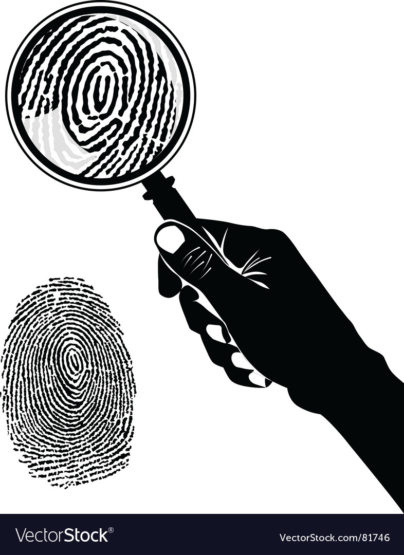 Crime scene fingerprint vector | Price: 1 Credit (USD $1)