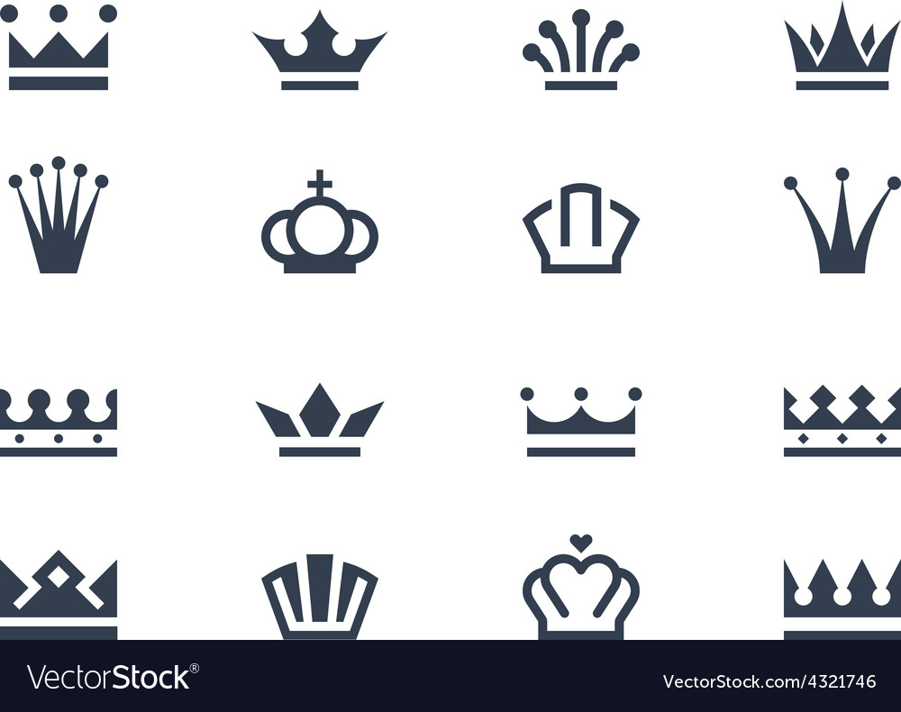 Crown icons 2 vector