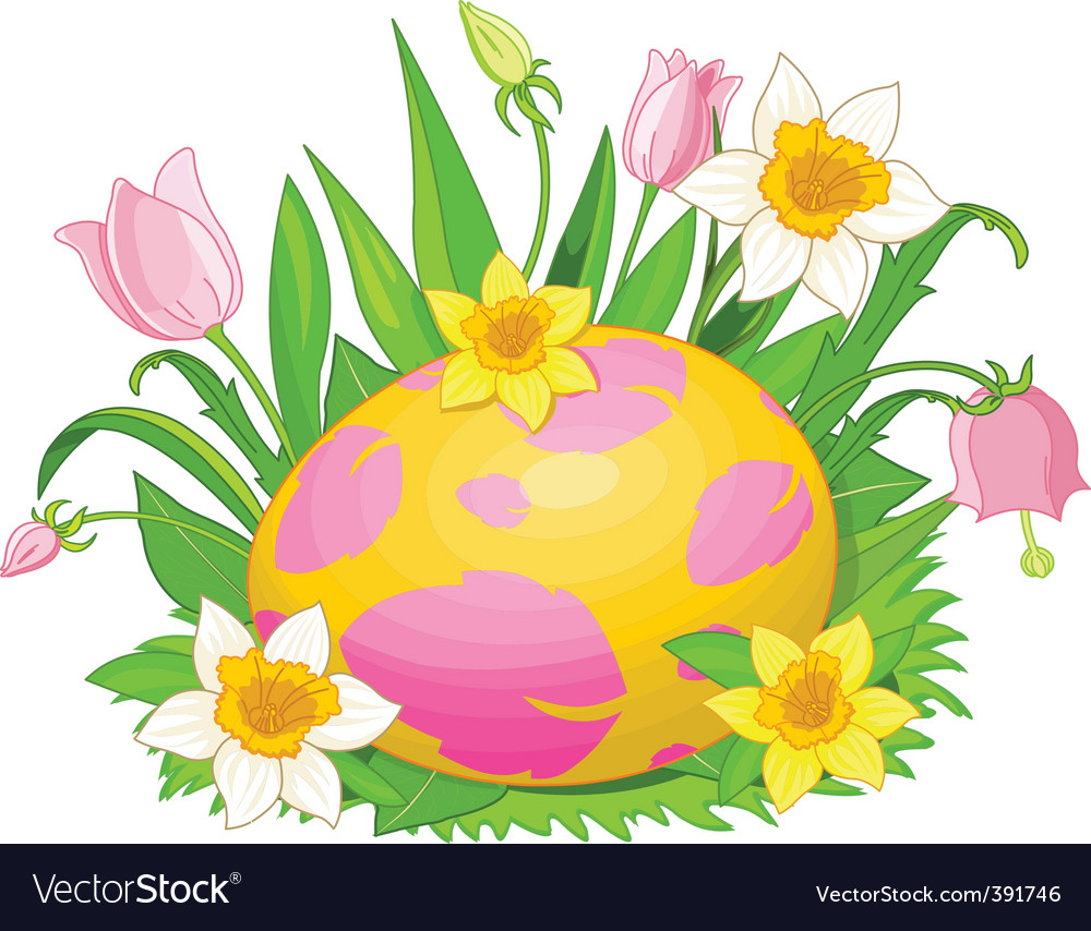 Easter egg in a grass vector   Price: 1 Credit (USD $1)