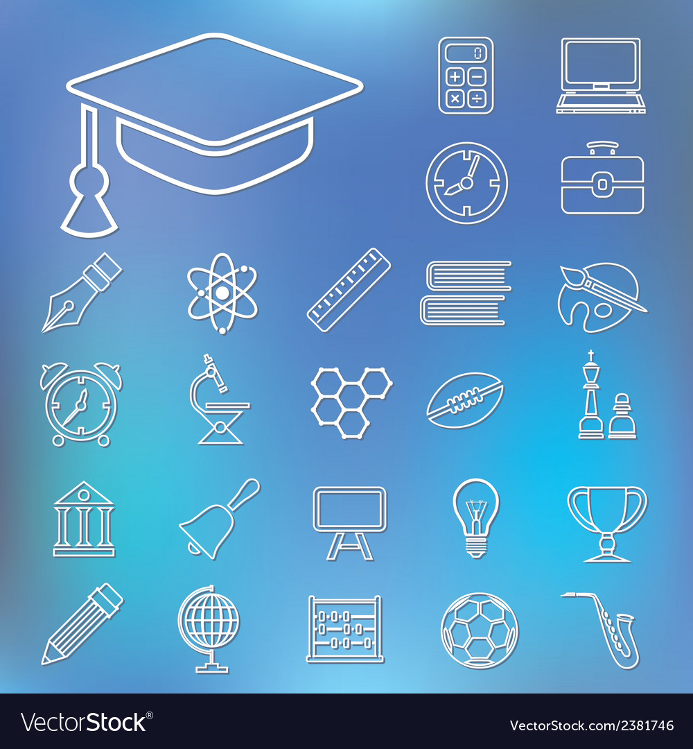 Education outline icons vector   Price: 1 Credit (USD $1)
