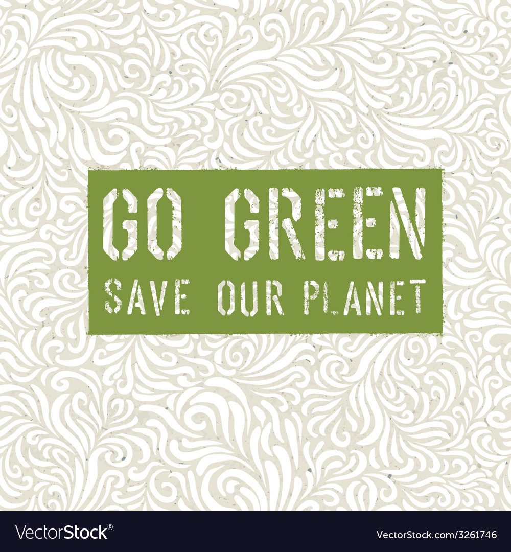 Go-green-conceptual-design-vector
