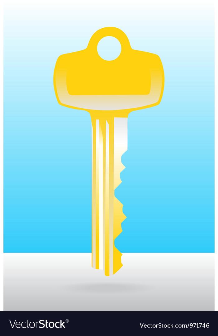 Golden house door key vector | Price: 1 Credit (USD $1)
