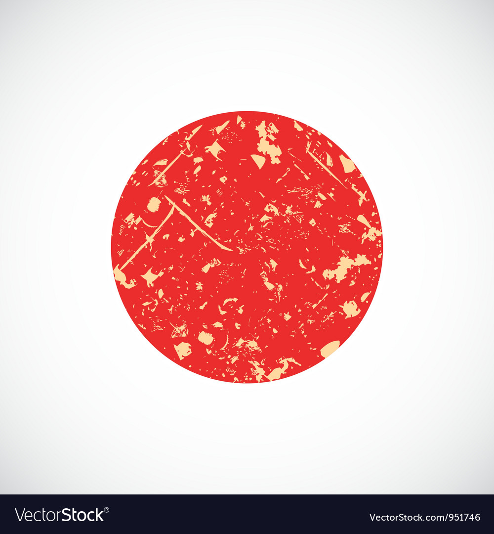 Japan flag vector | Price: 1 Credit (USD $1)