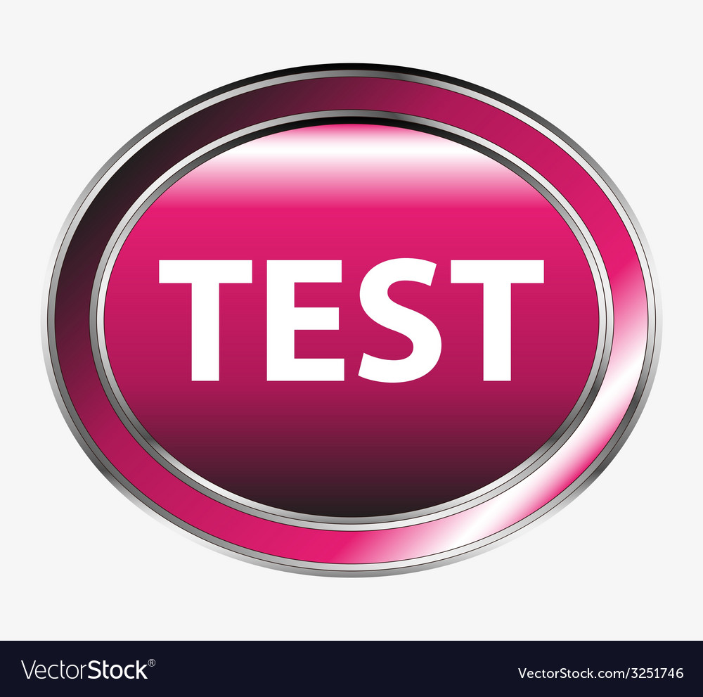Test icon internet button vector | Price: 1 Credit (USD $1)
