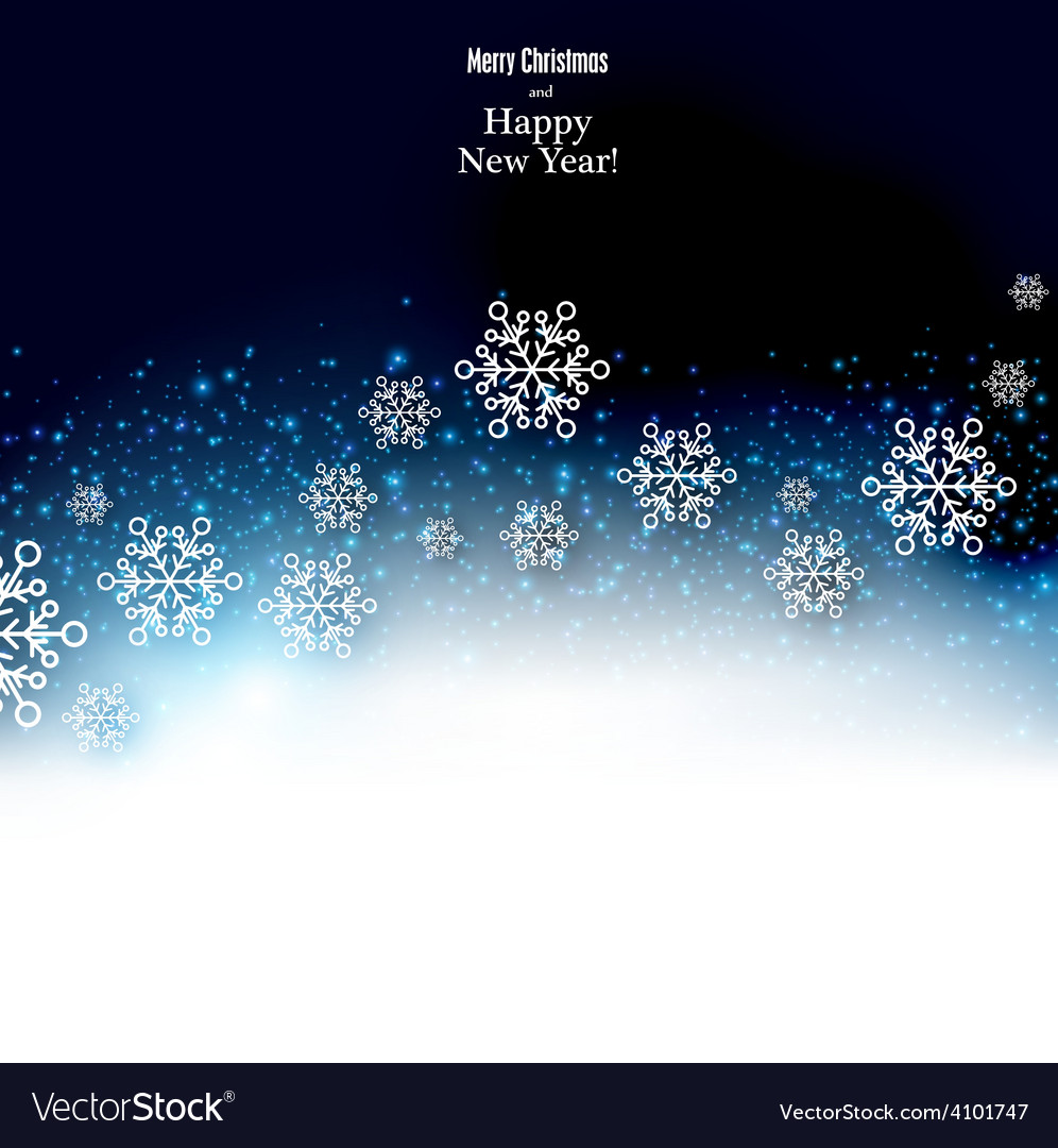 Christmas background with fallen snowflakes vector   Price: 1 Credit (USD $1)