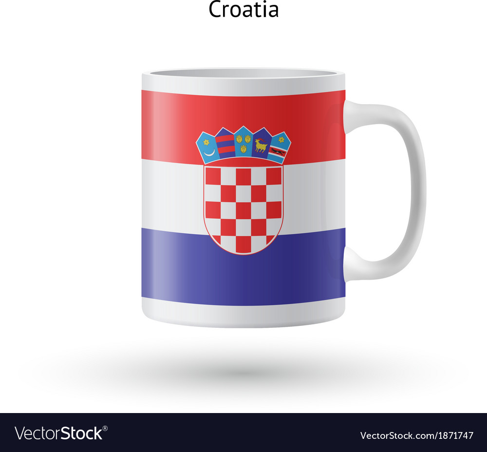 Croatia flag souvenir mug on white background vector | Price: 1 Credit (USD $1)