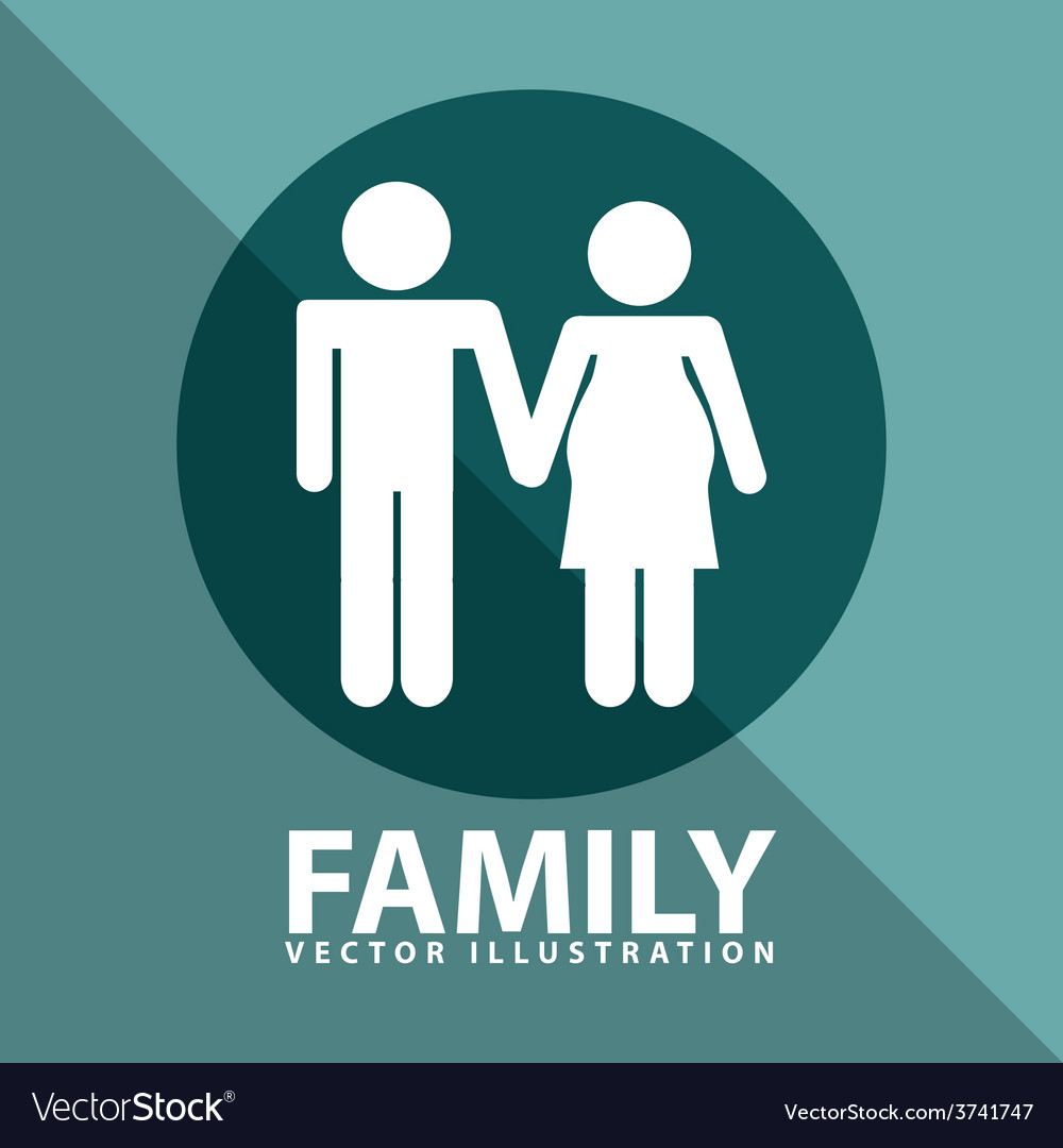 Family silhouettes vector   Price: 1 Credit (USD $1)