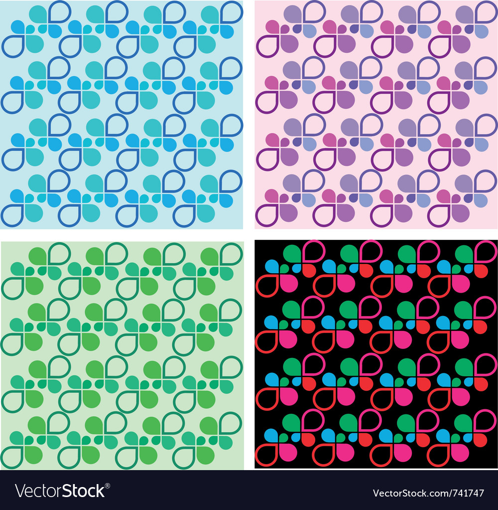 Four colorful shape templates vector | Price: 1 Credit (USD $1)