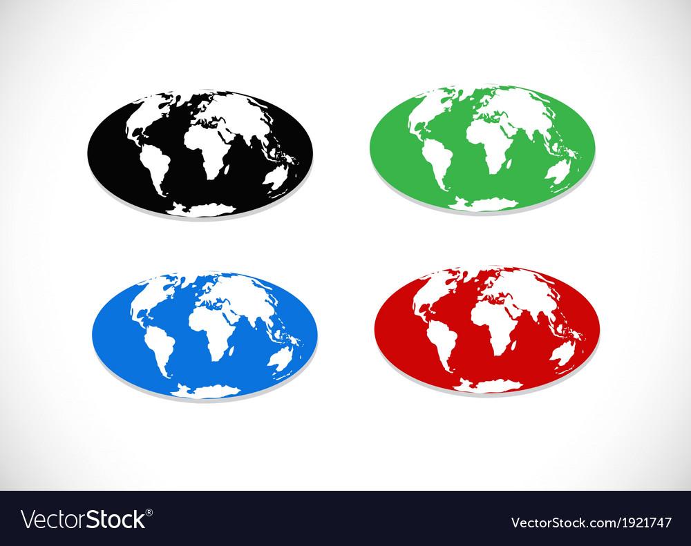 Globe earth icons themes idea design vector | Price: 1 Credit (USD $1)