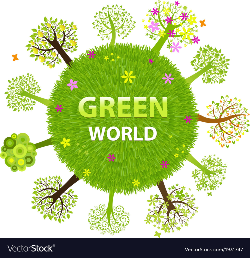 Green world vector | Price: 1 Credit (USD $1)