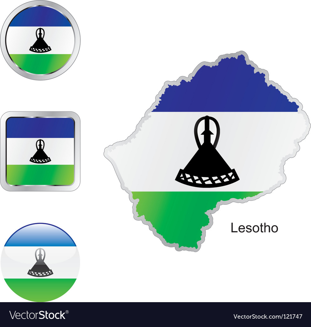 Lesotho vector | Price: 1 Credit (USD $1)