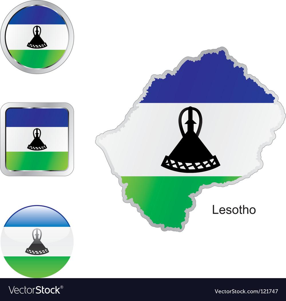 Lesotho vector | Price: 1 Credit (USD $1)