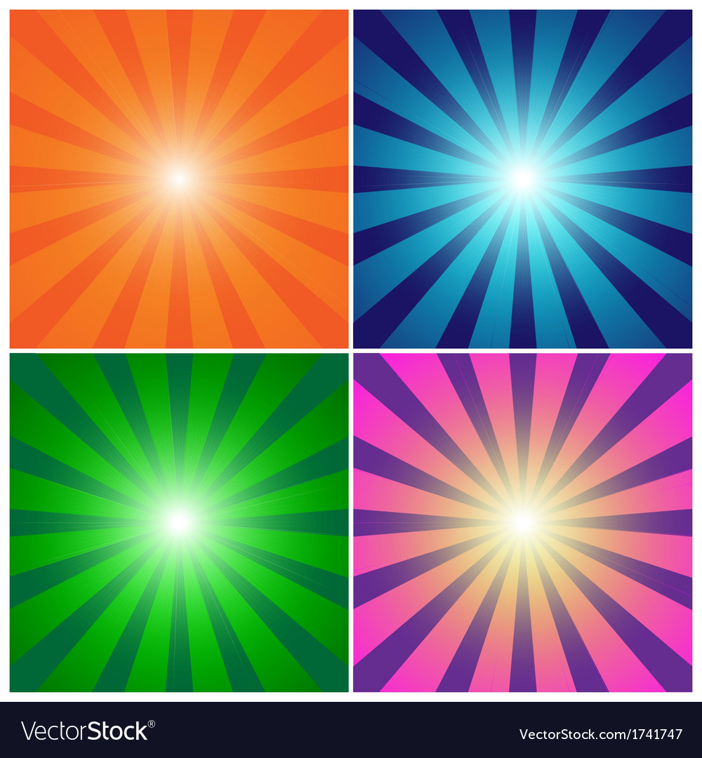 Rays background set vector | Price: 1 Credit (USD $1)