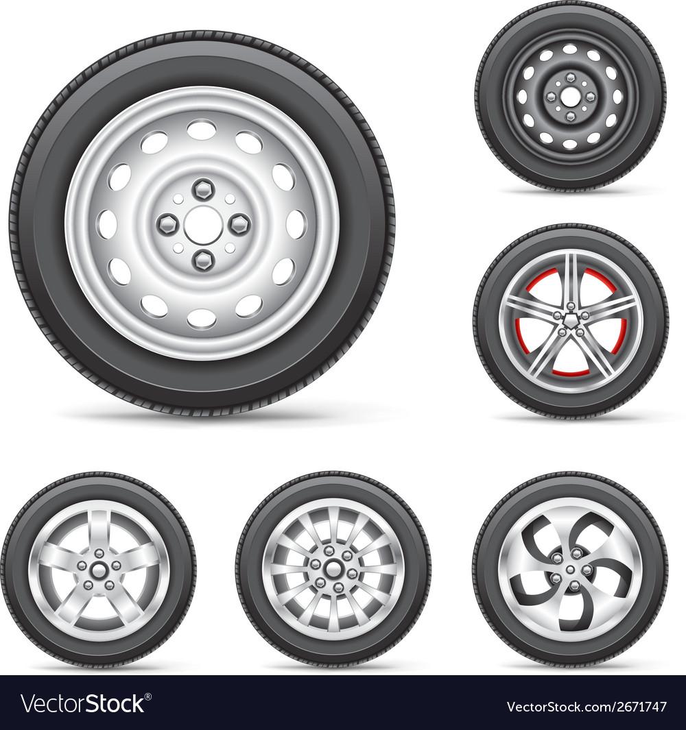 Set of tires vector | Price: 1 Credit (USD $1)