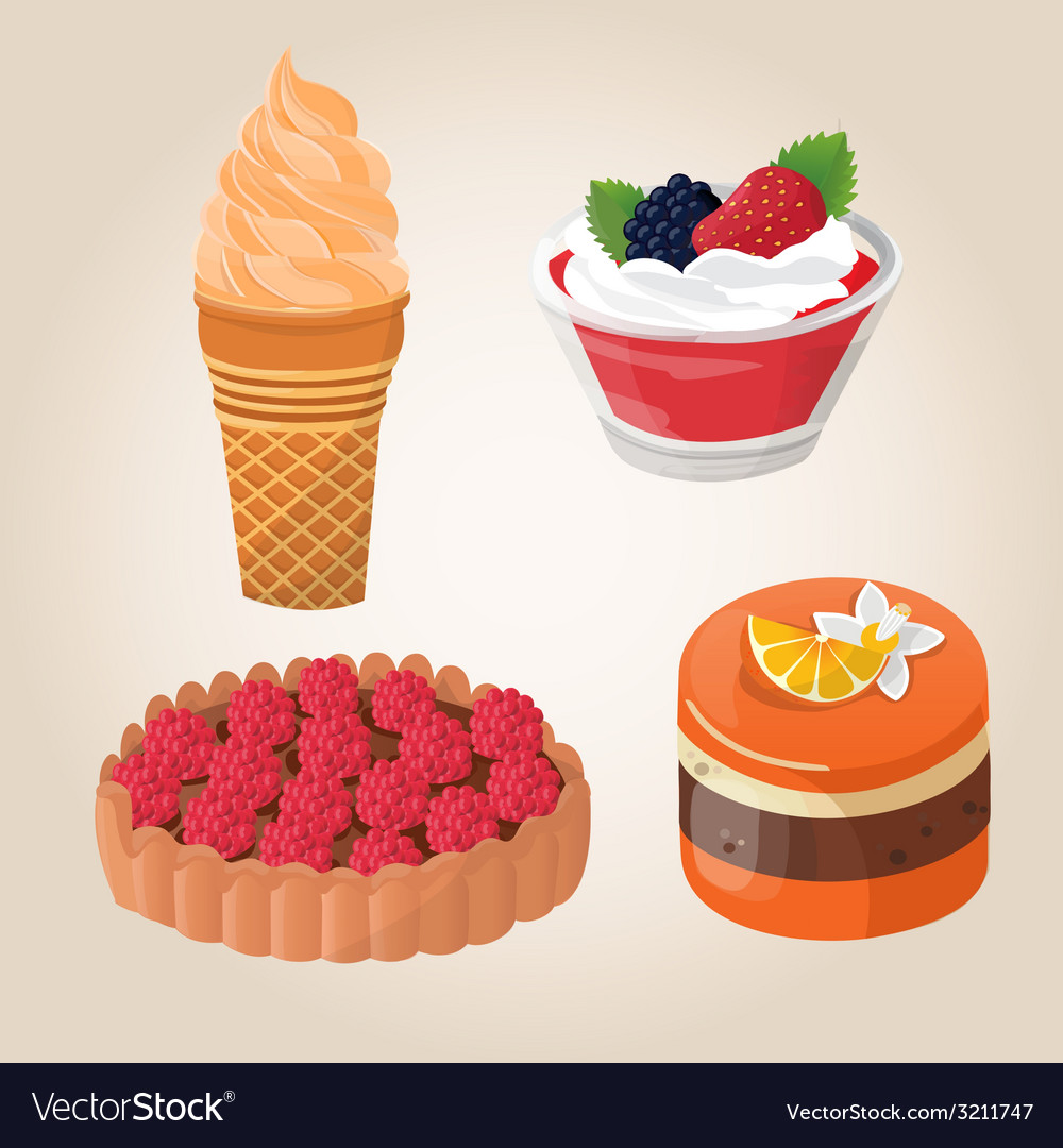 Sweet cakes vector | Price: 1 Credit (USD $1)