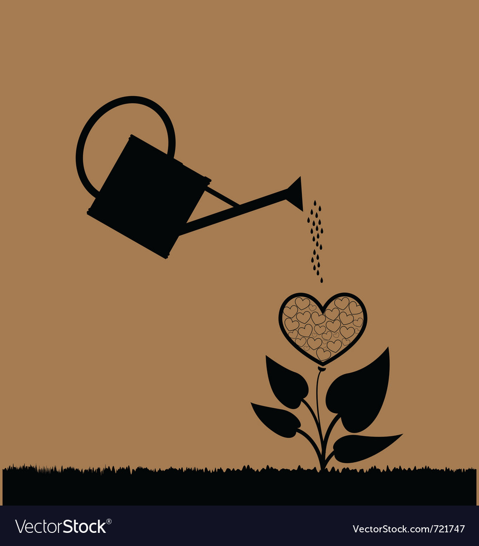 Water can watering plant vector | Price: 1 Credit (USD $1)