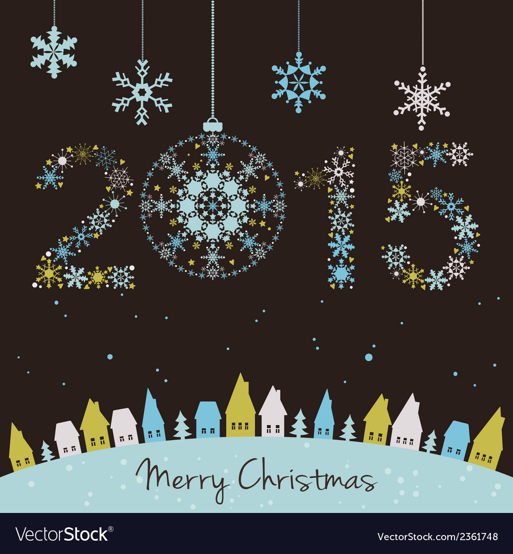 2015 new year happy holidays background vector | Price: 1 Credit (USD $1)