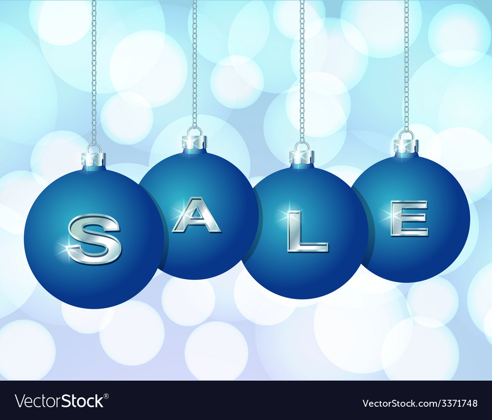 Blue christmas balls with silver word sale vector | Price: 1 Credit (USD $1)
