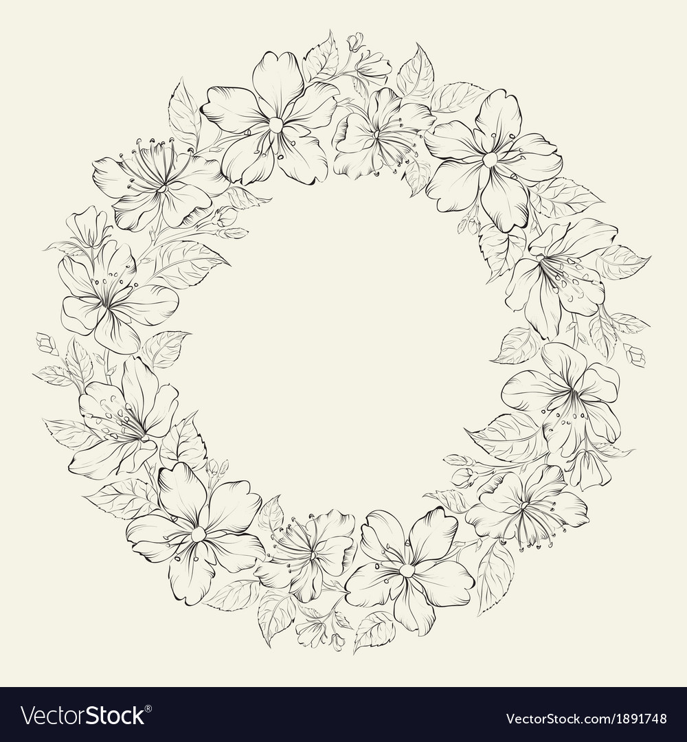 Floral wreath - wedding design vector | Price: 1 Credit (USD $1)
