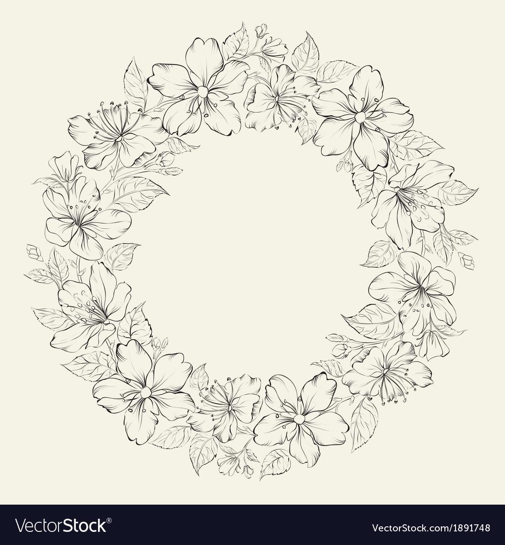 Floral wreath - wedding design vector   Price: 1 Credit (USD $1)