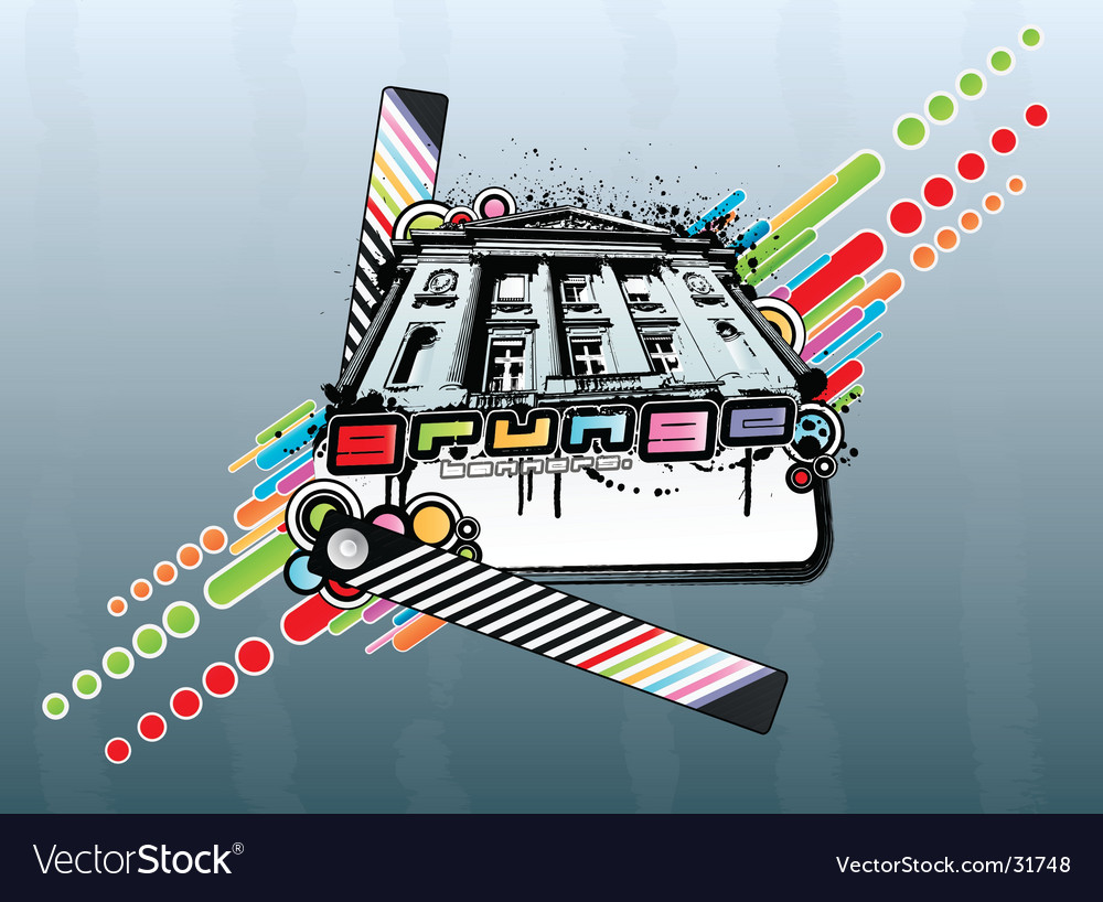 Grunge rainbow palace vector | Price: 1 Credit (USD $1)