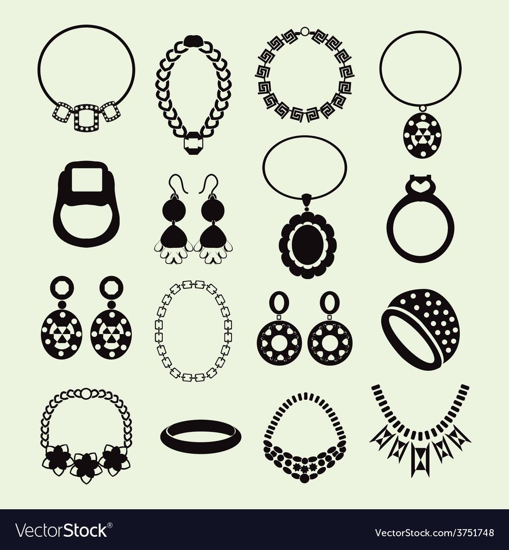 Jewellery set women accessories vector | Price: 1 Credit (USD $1)