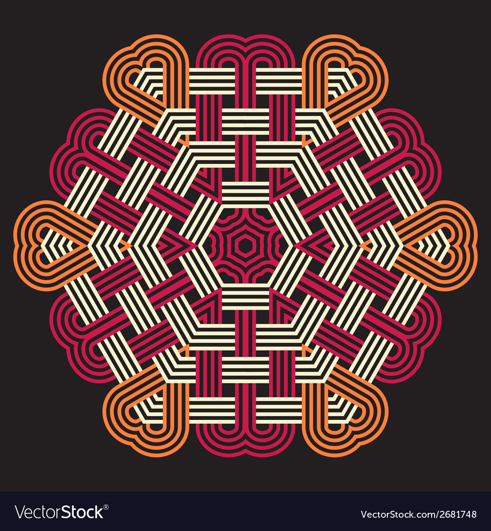 Mandala round ornament pattern vector | Price: 1 Credit (USD $1)