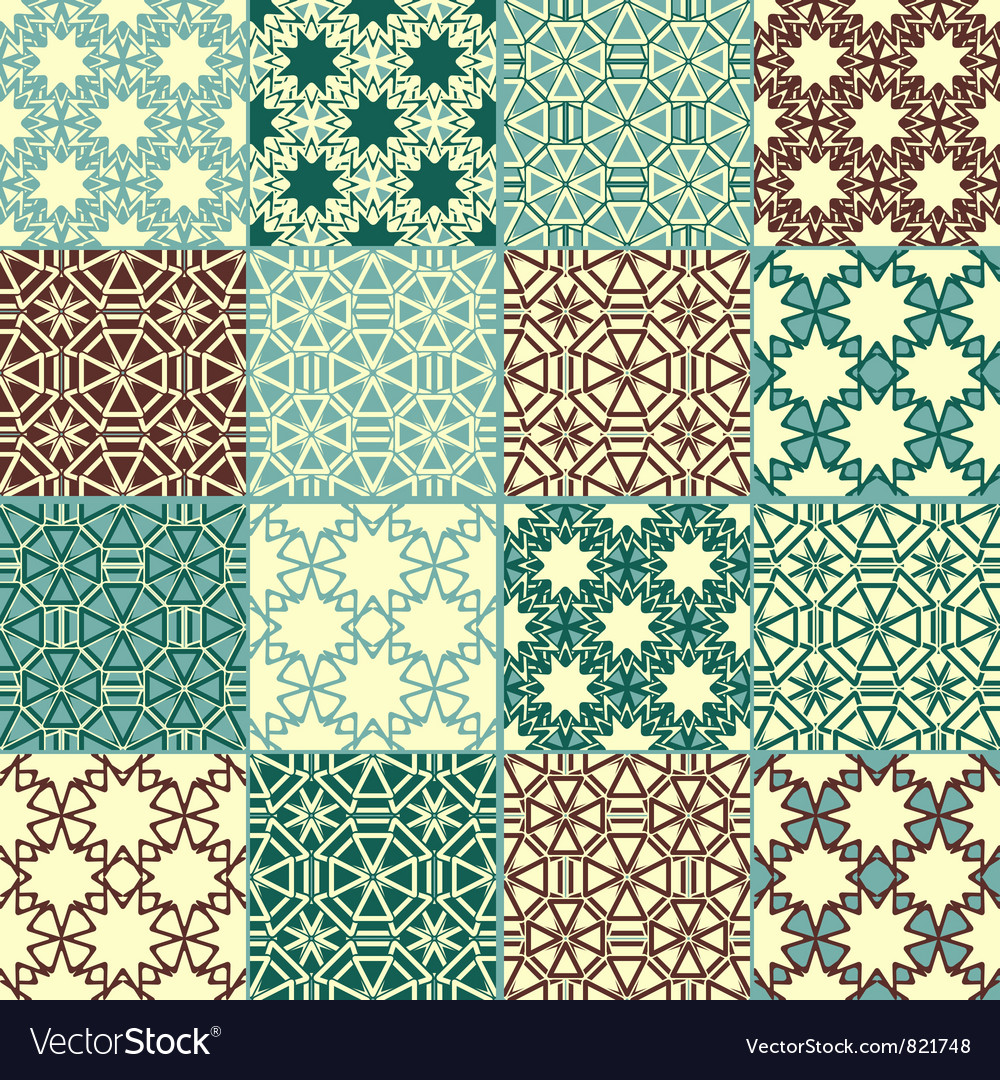 Set of four seamless patterns vector | Price: 1 Credit (USD $1)