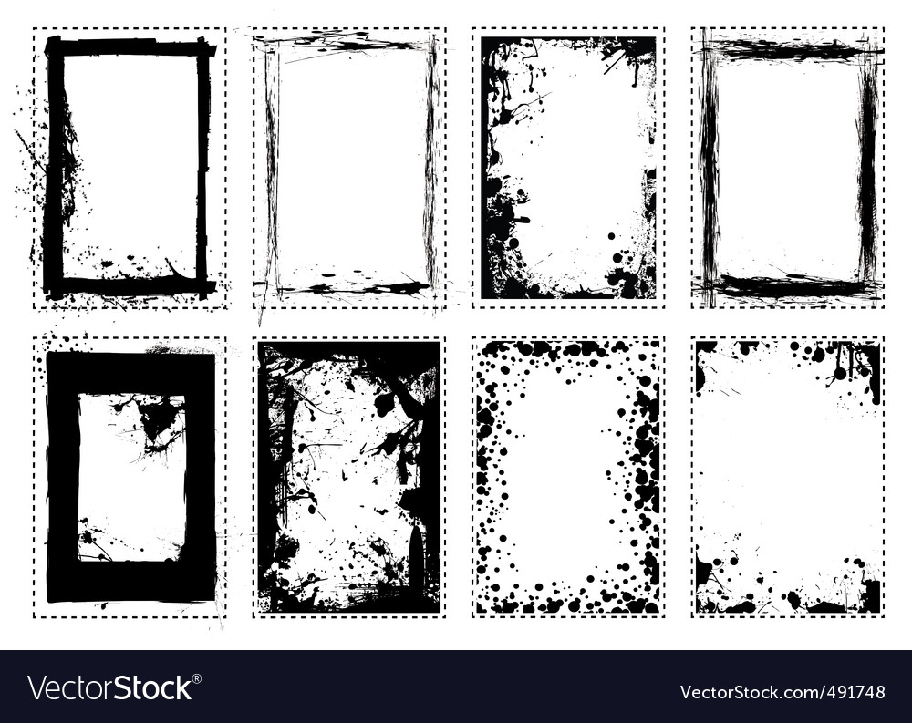 Splat grunge picture frame vector | Price: 1 Credit (USD $1)