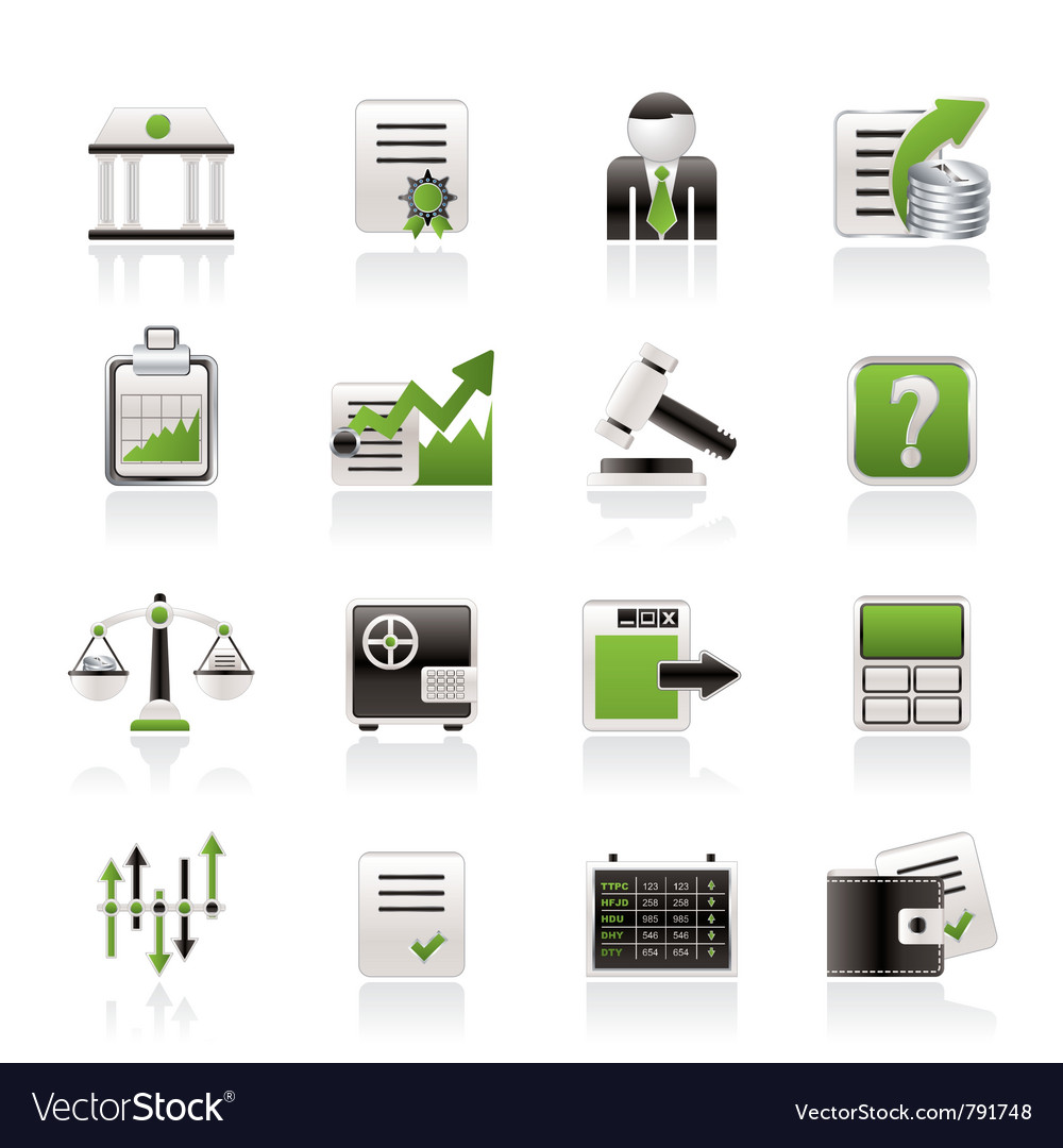 Stock exchange and finance icons vector | Price: 3 Credit (USD $3)