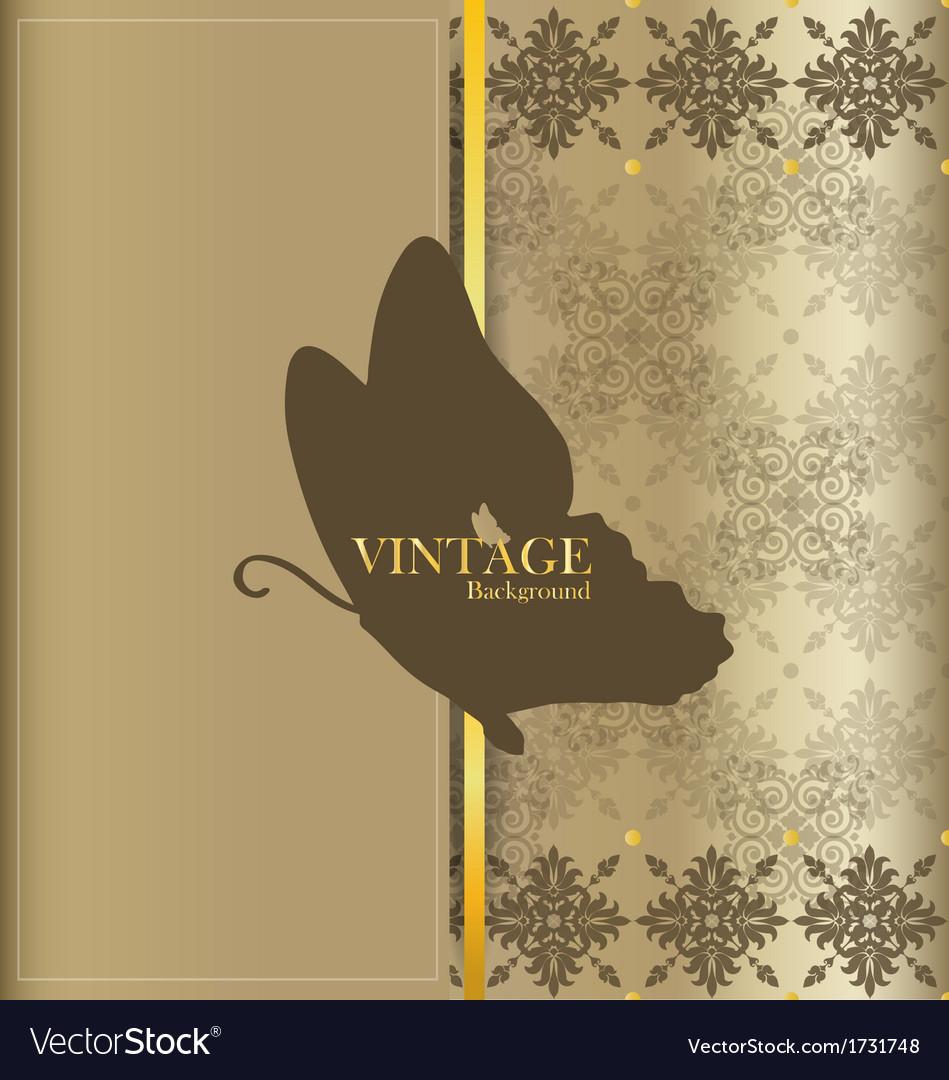 Vintage card with vintage background vector | Price: 1 Credit (USD $1)