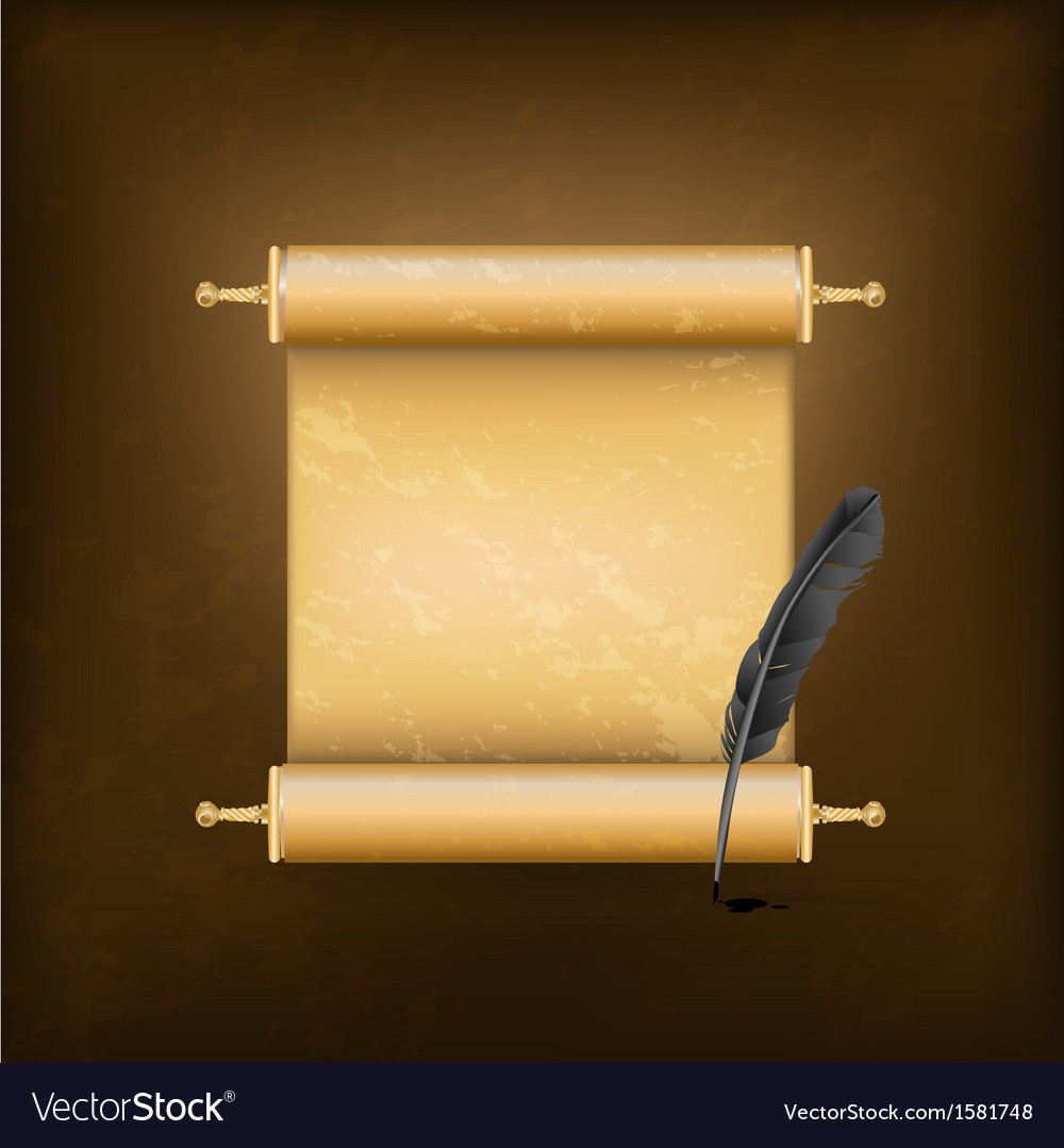 Vintage jewish scroll vector | Price: 1 Credit (USD $1)