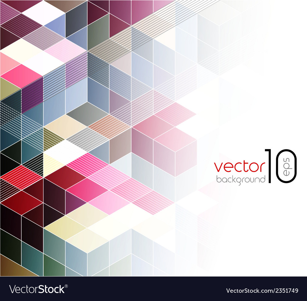 Abstract cubes background vector | Price: 1 Credit (USD $1)
