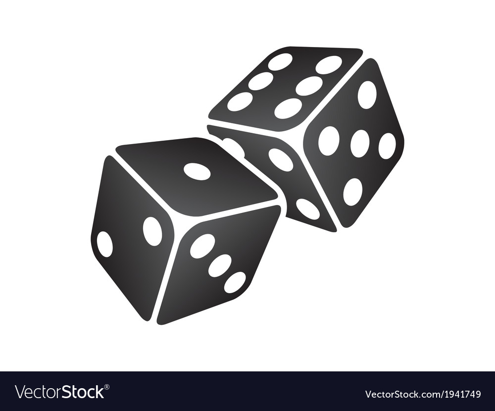 Black dice vector | Price: 1 Credit (USD $1)