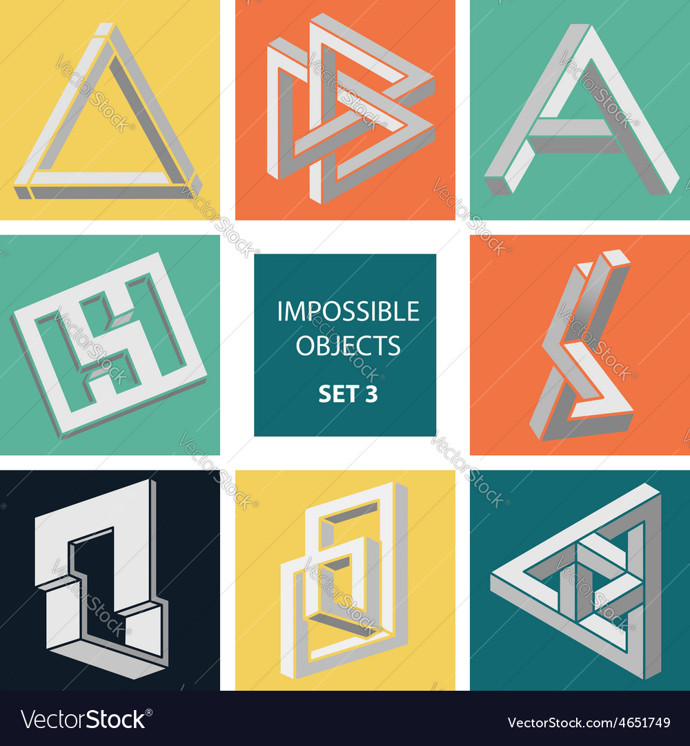Impossible objects set 3 vector   Price: 1 Credit (USD $1)