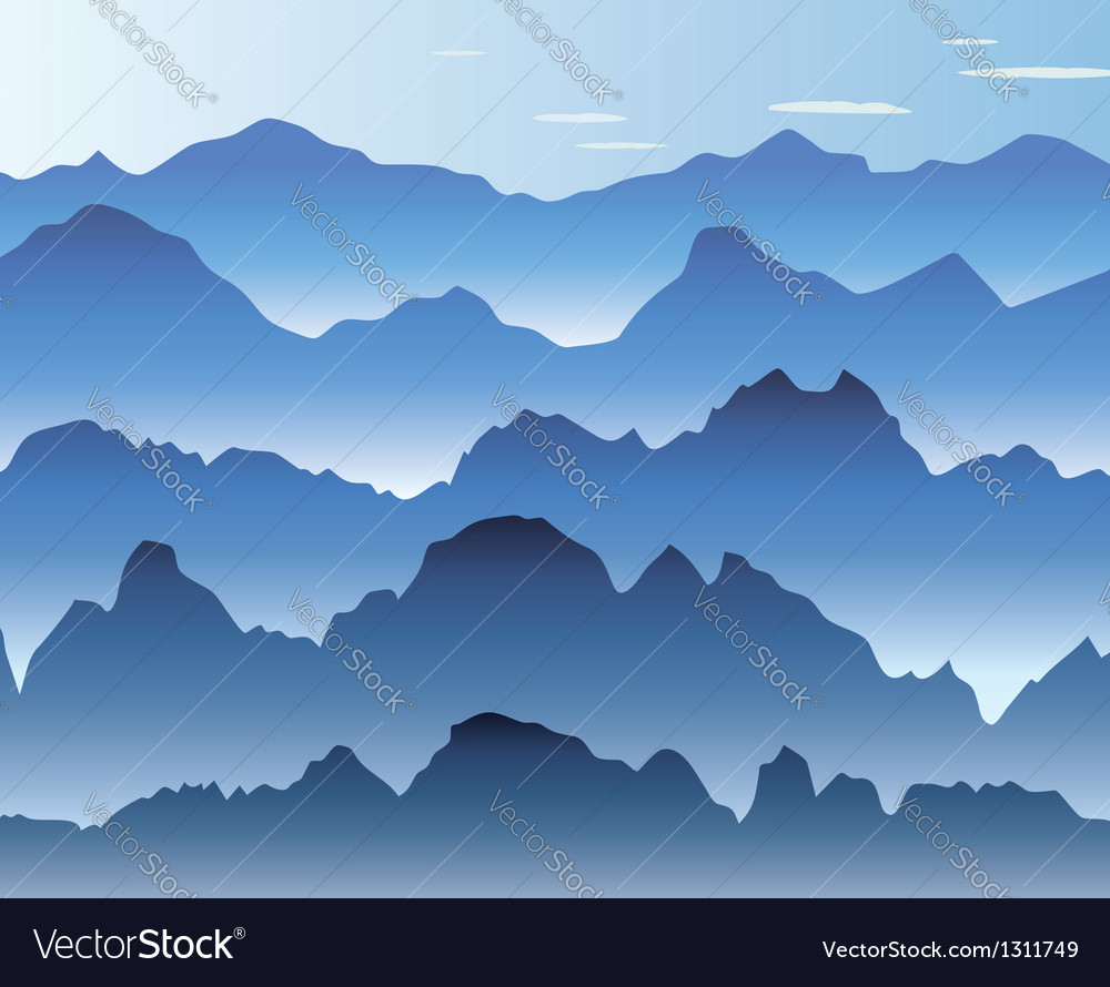 Mist in the mountains vector | Price: 1 Credit (USD $1)
