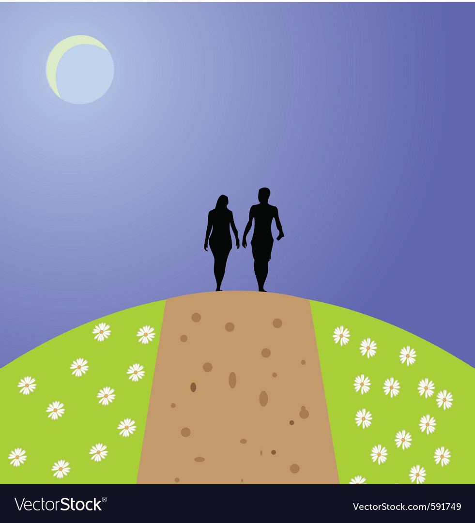 Path people vector | Price: 1 Credit (USD $1)