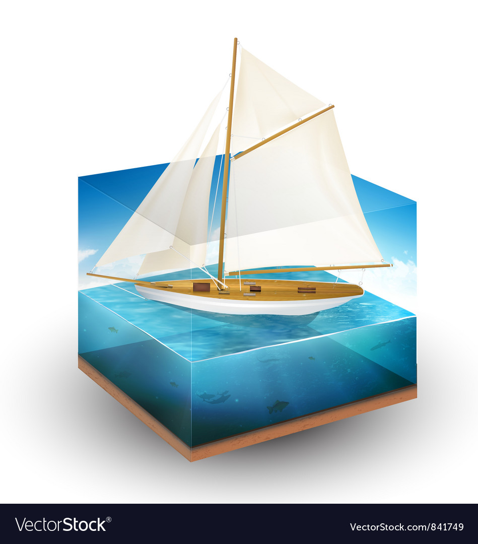 Sailing boat vector | Price: 3 Credit (USD $3)
