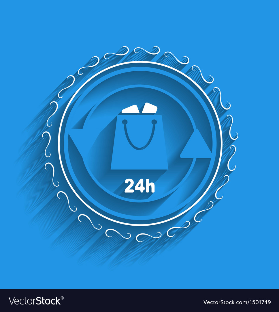 Shopping bag icon modern flat design vector | Price: 1 Credit (USD $1)