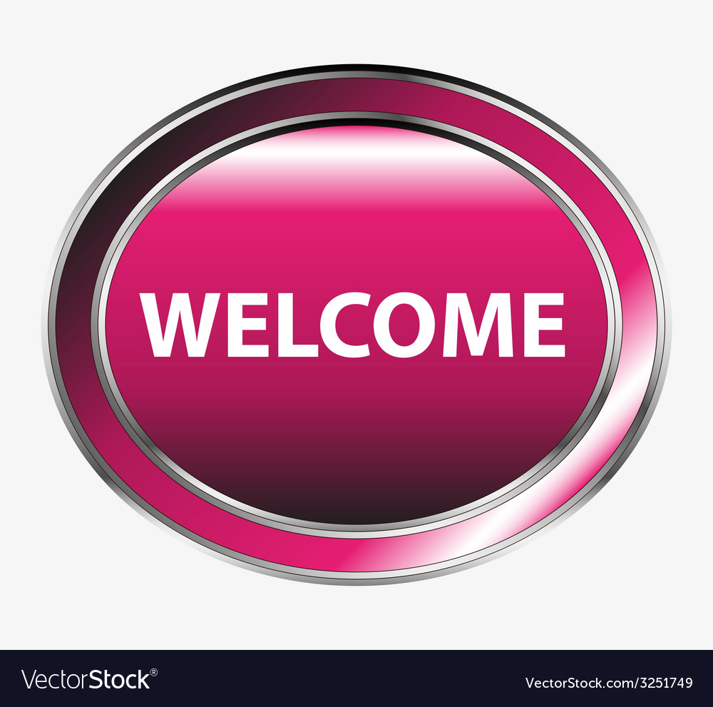 Welcome button vector | Price: 1 Credit (USD $1)