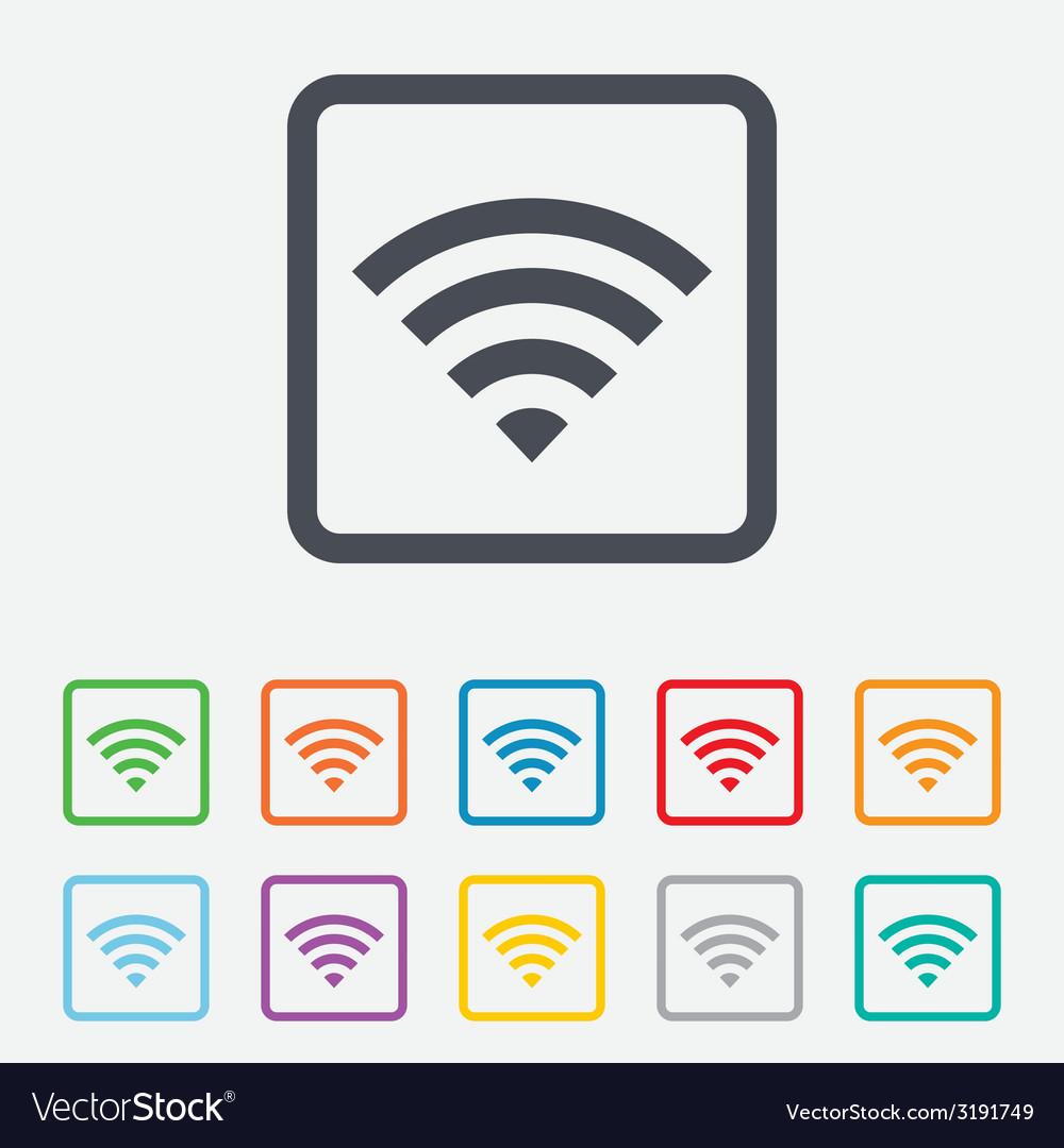 Wifi sign wi-fi symbol wireless network vector | Price: 1 Credit (USD $1)