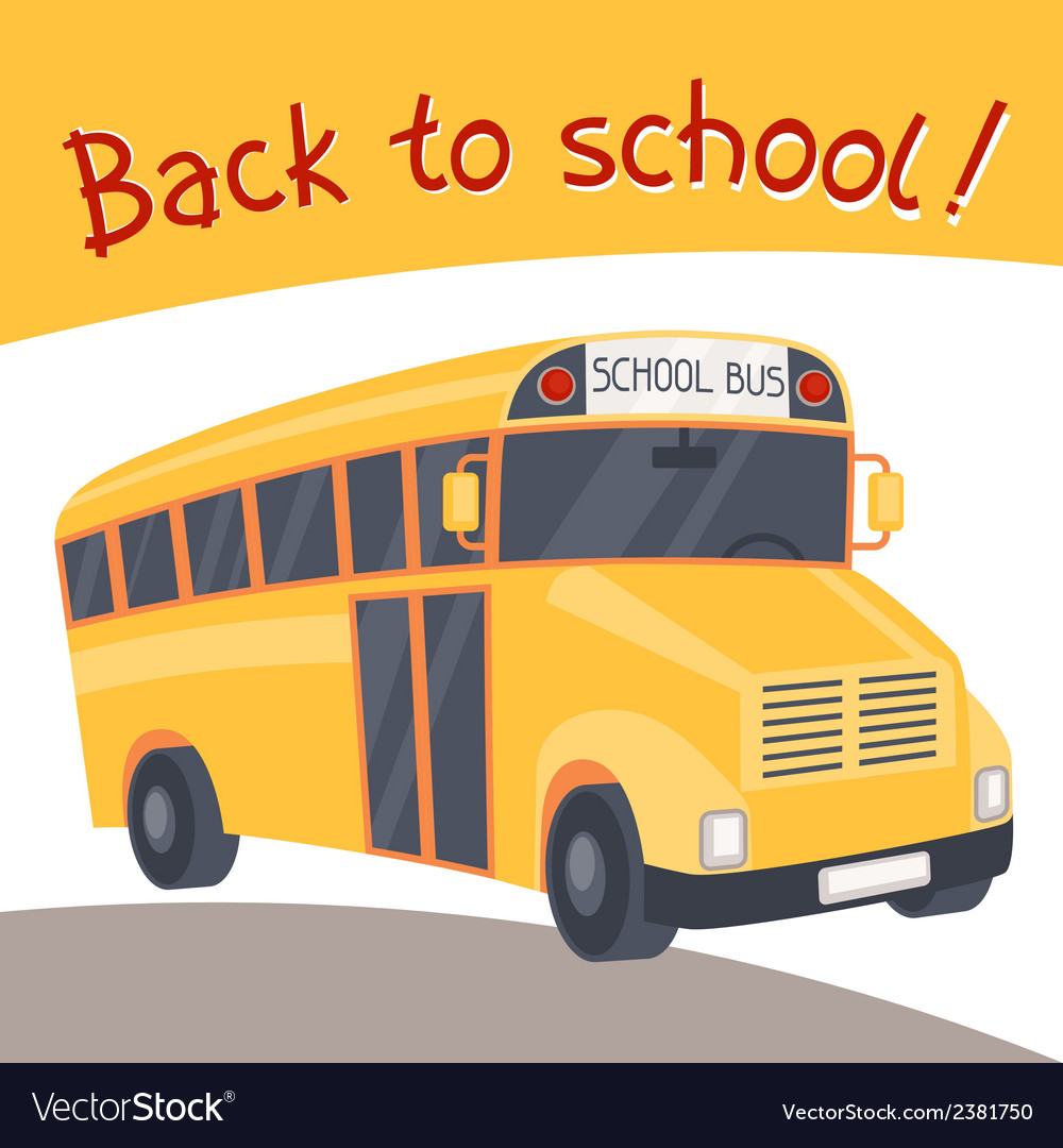 Back to school background with of yellow bus vector | Price: 1 Credit (USD $1)
