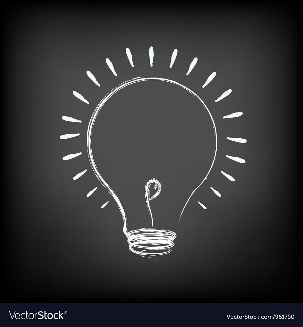 Chalk light bulb vector | Price: 1 Credit (USD $1)