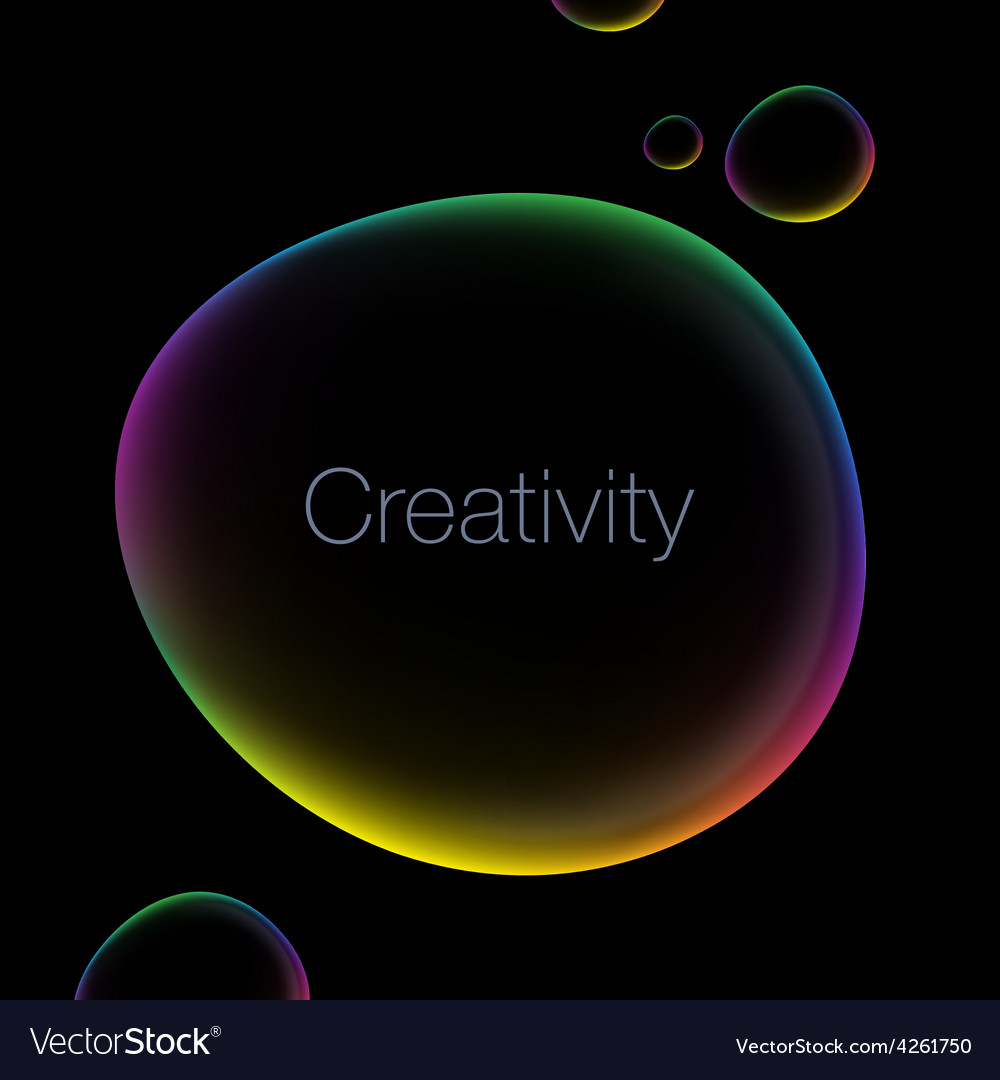 Creativity abstract background with speech bubble vector | Price: 1 Credit (USD $1)