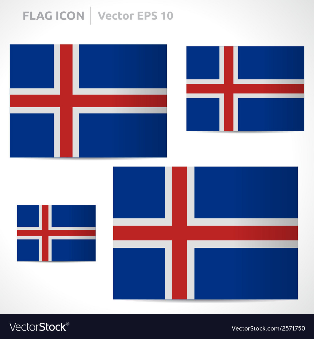 Iceland flag template vector | Price: 1 Credit (USD $1)