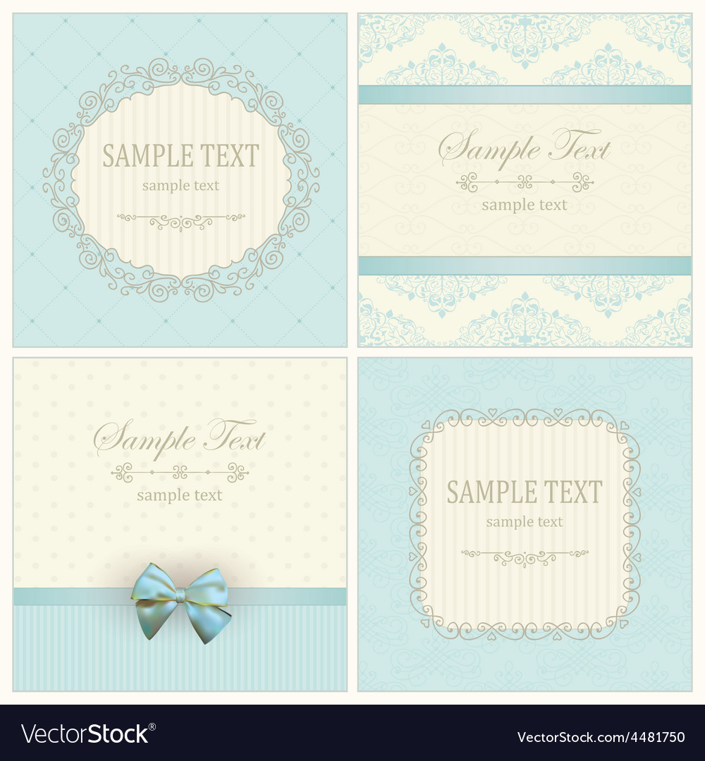 Invitation cards with pattern vector   Price: 1 Credit (USD $1)