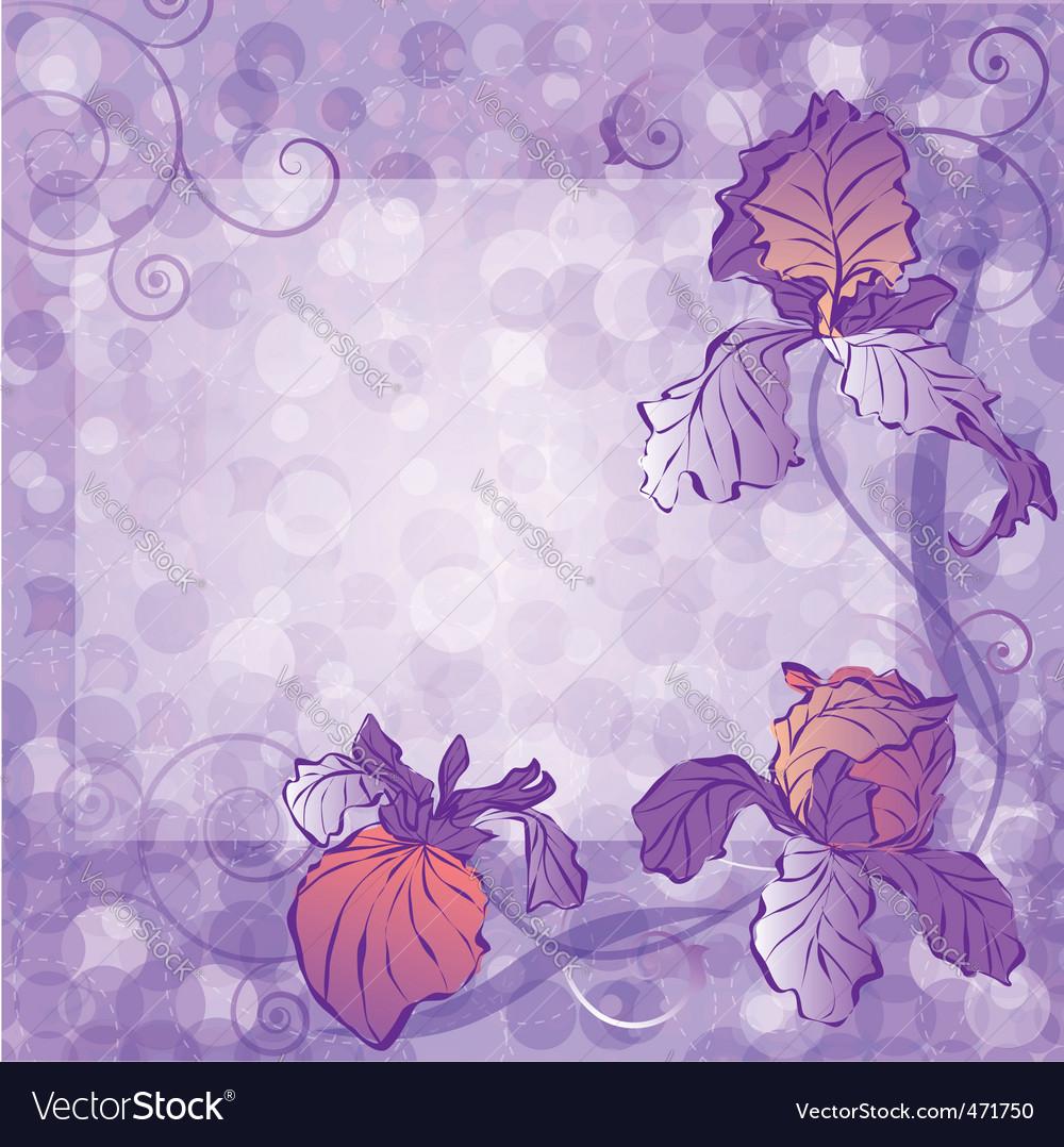 Irises vector | Price: 1 Credit (USD $1)
